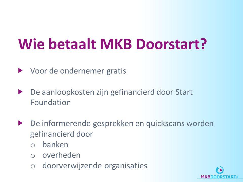 Wie betaalt MKB Doorstart.
