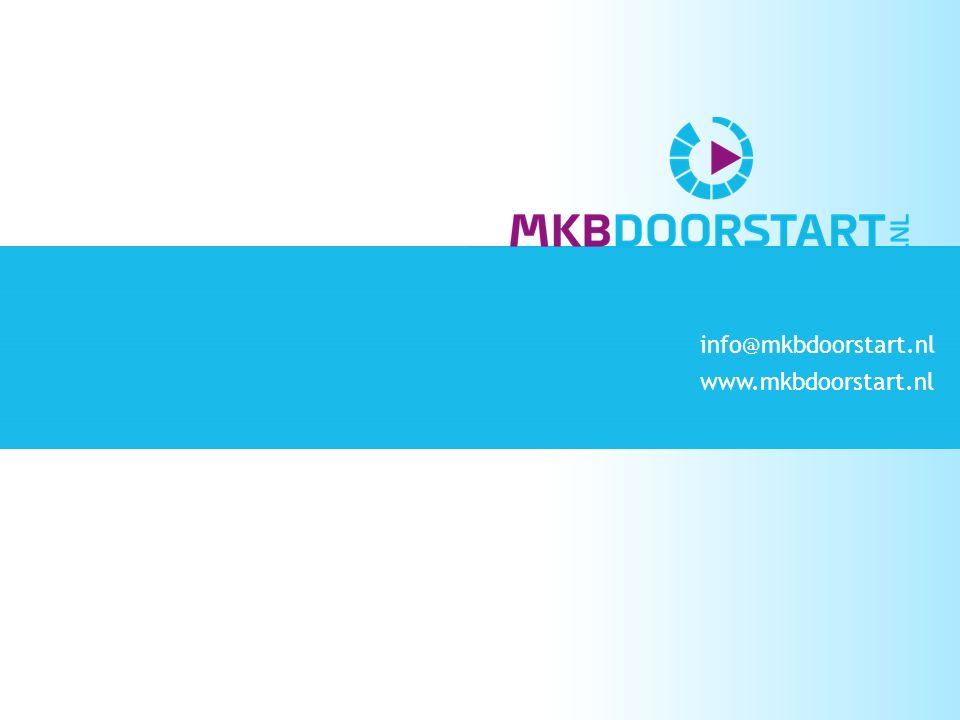 info@mkbdoorstart.nl www.mkbdoorstart.nl