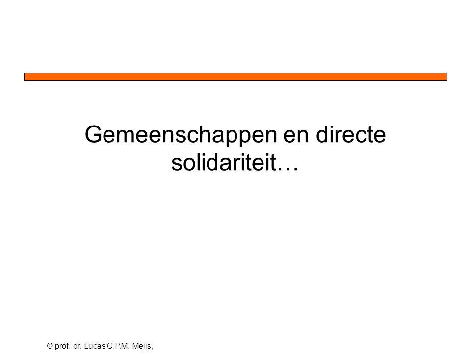 © prof. dr. Lucas C.P.M. Meijs, Gemeenschappen en directe solidariteit…