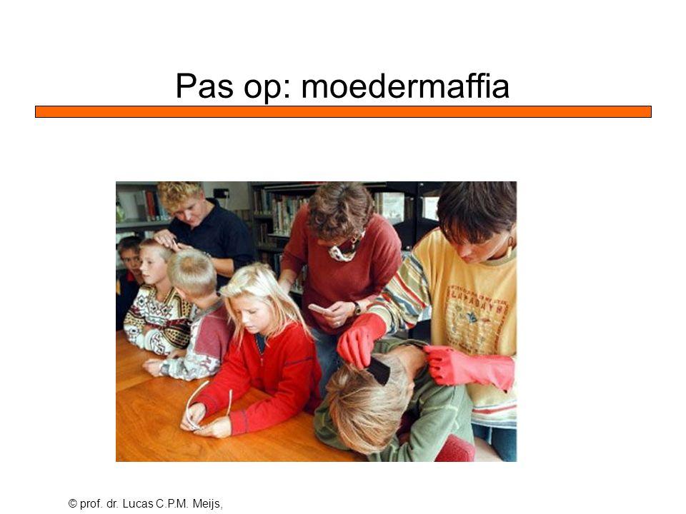 © prof. dr. Lucas C.P.M. Meijs, Pas op: moedermaffia