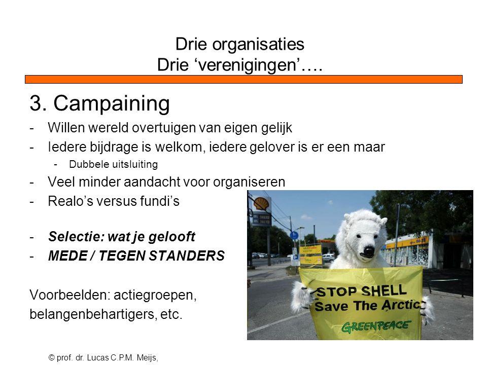 © prof. dr. Lucas C.P.M. Meijs, Drie organisaties Drie 'verenigingen'….