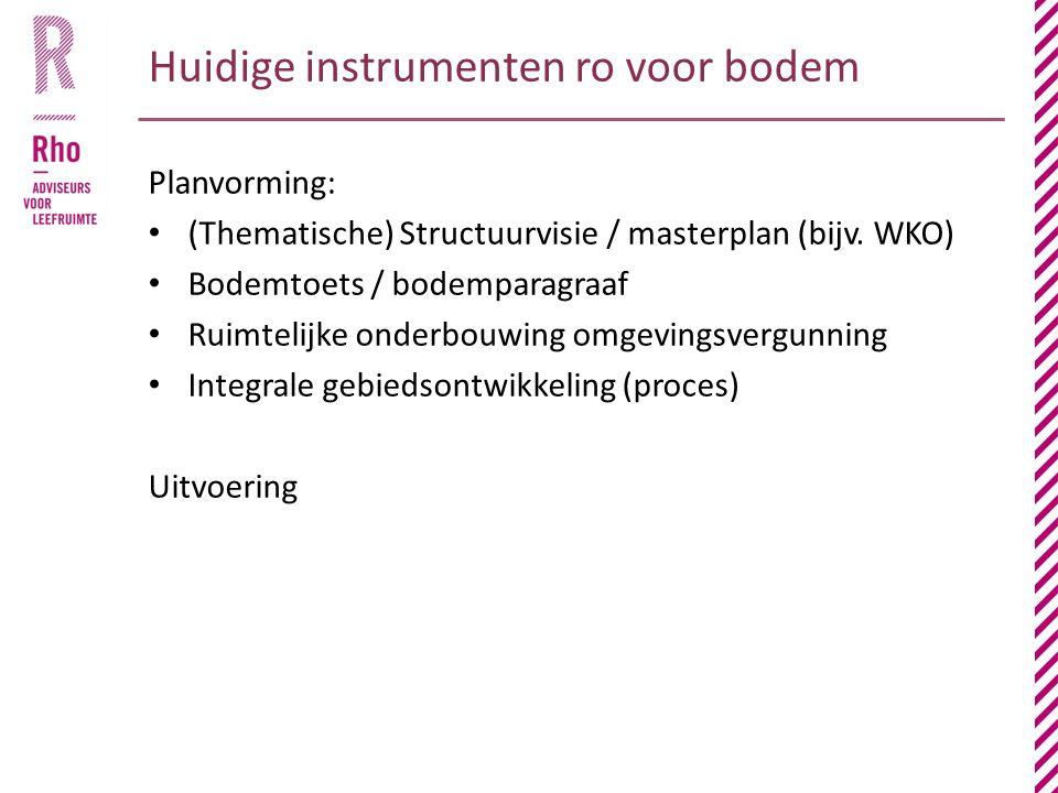 Kansen van de ondergrond benutten Boustienen t.b.v.