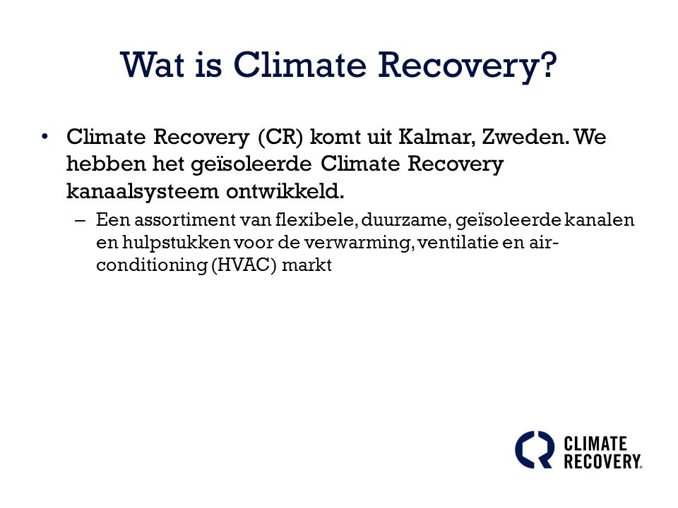 Wat is Climate Recovery?