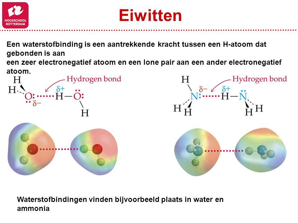 Een waterstofbinding is een aantrekkende kracht tussen een H-atoom dat gebonden is aan een zeer electronegatief atoom en een lone pair aan een ander e