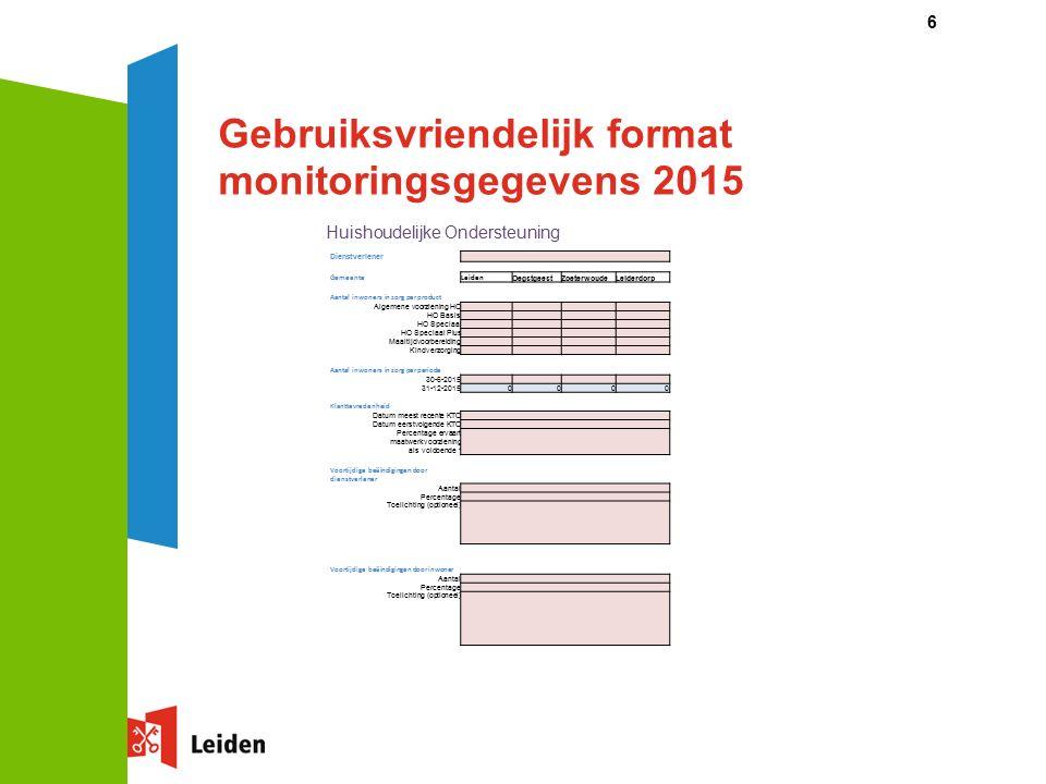 Nadere toelichting op de totstandkoming van de nieuwe tarieven 2016 (2)  Er wordt gefactureerd per 4 weken en afgerekend per geleverde dag.