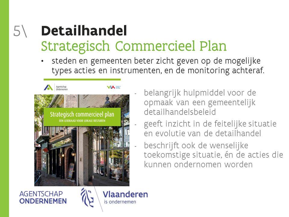 Detailhandel Strategisch Commercieel Plan steden en gemeenten beter zicht geven op de mogelijke types acties en instrumenten, en de monitoring achteraf.