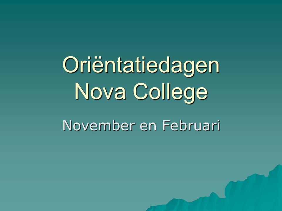 Oriëntatiedagen Nova College November en Februari