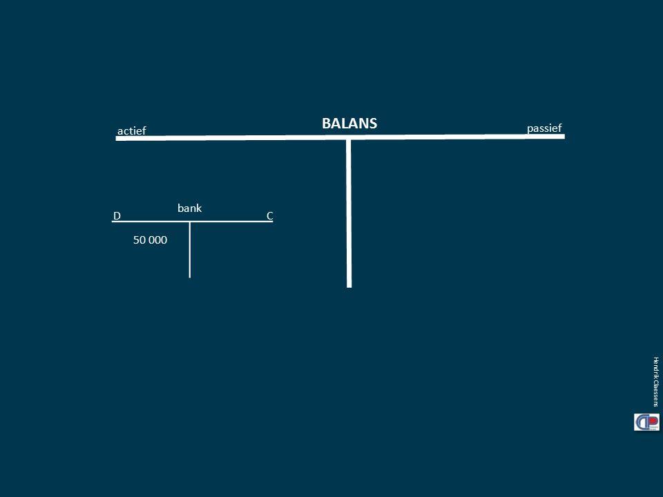 BALANS actief passief bank 50 000 Hendrik Claessens CD