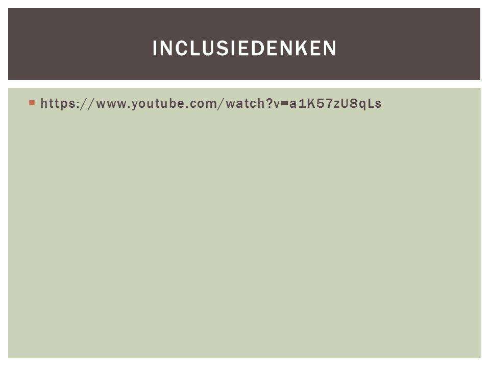 https://www.youtube.com/watch v=a1K57zU8qLs INCLUSIEDENKEN