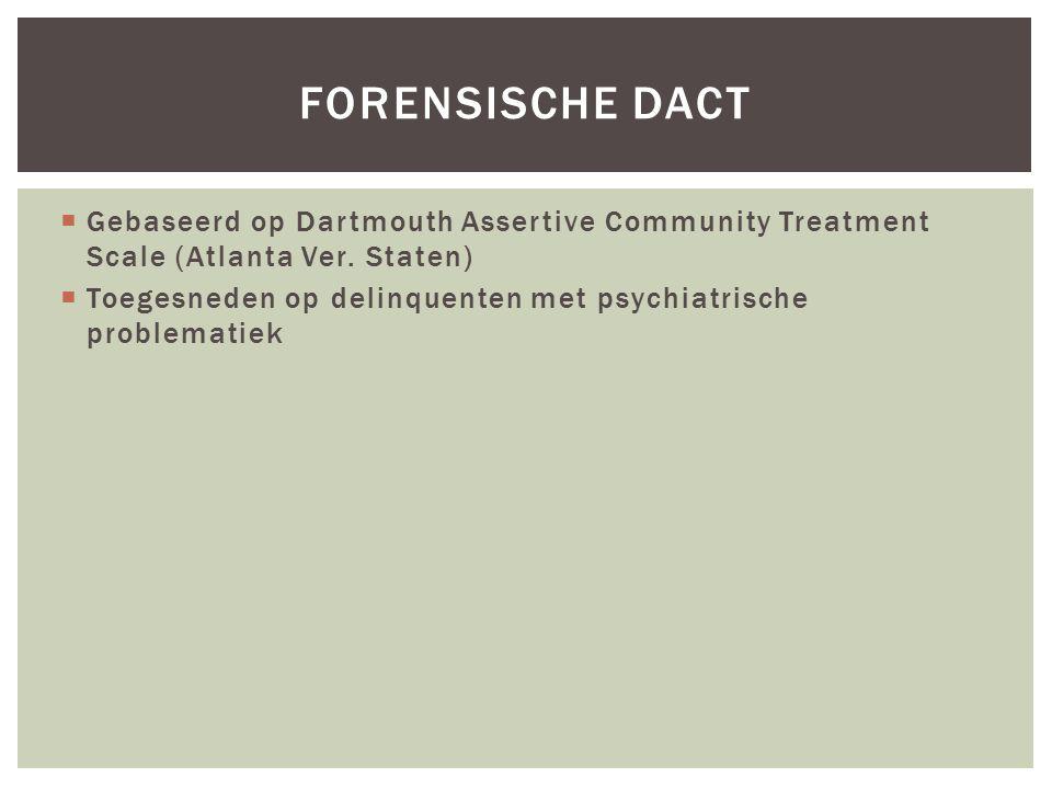 FORENSISCHE DACT  Gebaseerd op Dartmouth Assertive Community Treatment Scale (Atlanta Ver.