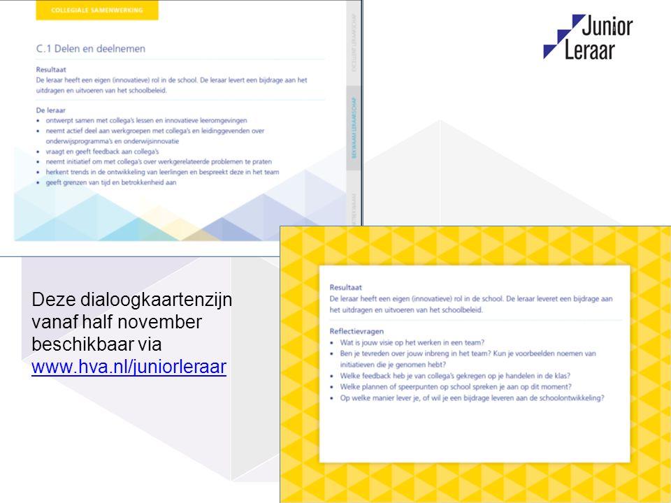8 Deze dialoogkaartenzijn vanaf half november beschikbaar via www.hva.nl/juniorleraar www.hva.nl/juniorleraar