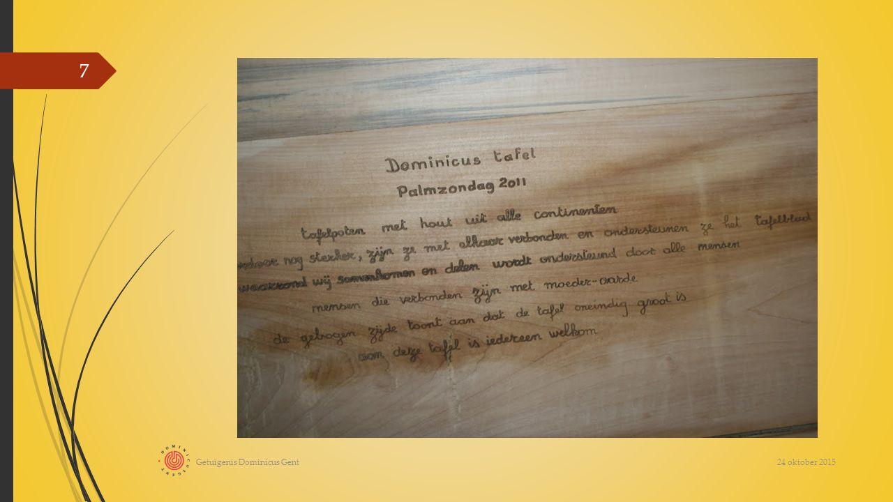 24 oktober 2015 Getuigenis Dominicus Gent 7