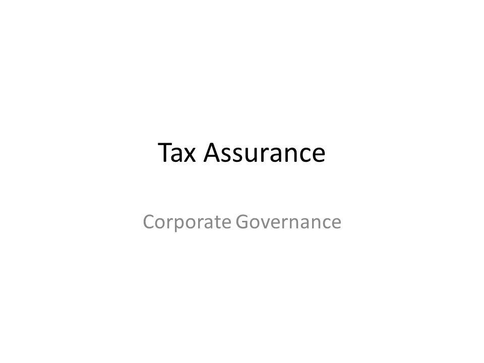 Tax Assurance Corporate Governance