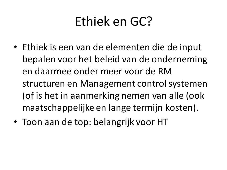 Ethiek en GC.