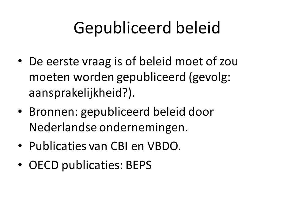 Gepubliceerd beleid De eerste vraag is of beleid moet of zou moeten worden gepubliceerd (gevolg: aansprakelijkheid ).