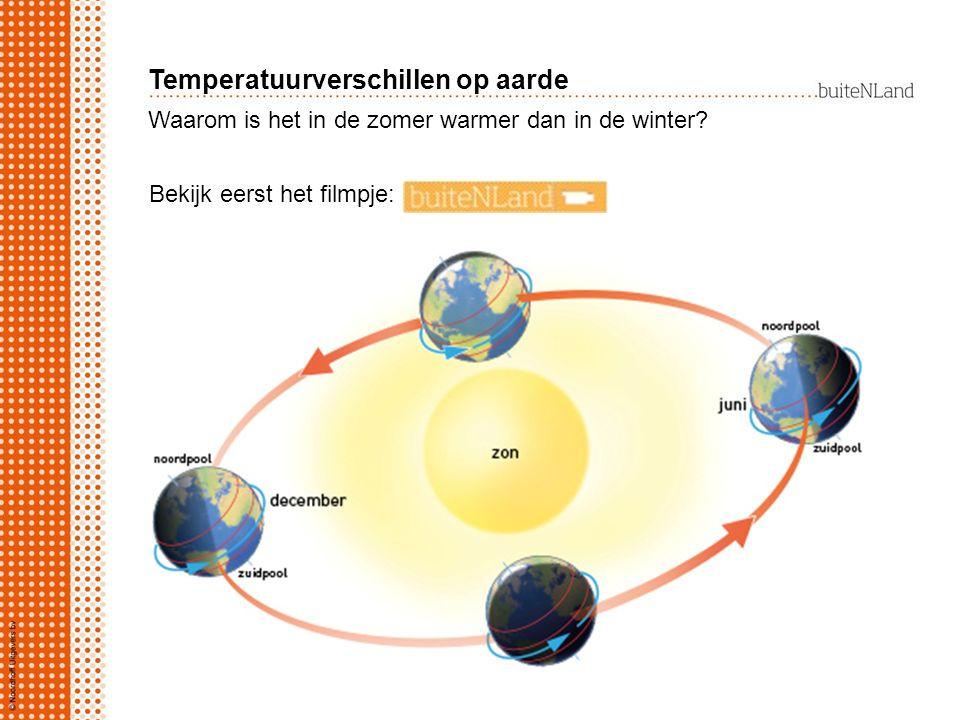 Waarom is het in de zomer warmer dan in de winter? Bekijk eerst het filmpje: Temperatuurverschillen op aarde