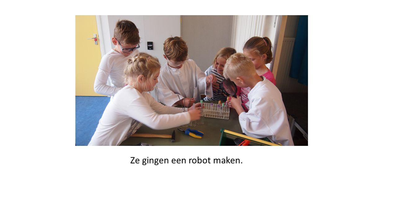 Ze gingen een robot maken.
