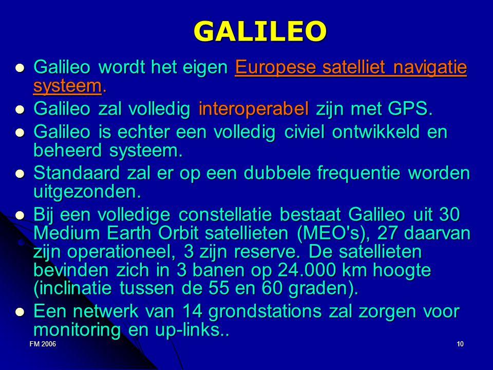 FM 200610 GALILEO Galileo wordt het eigen Europese satelliet navigatie systeem.