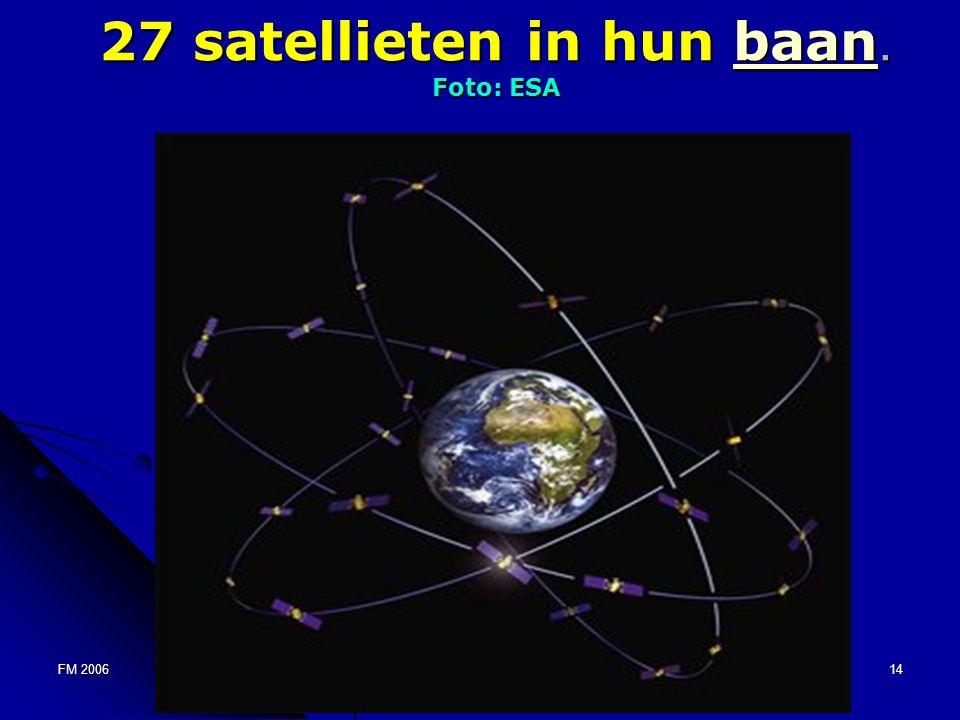 FM 200614 27 satellieten in hun baan. Foto: ESA baan