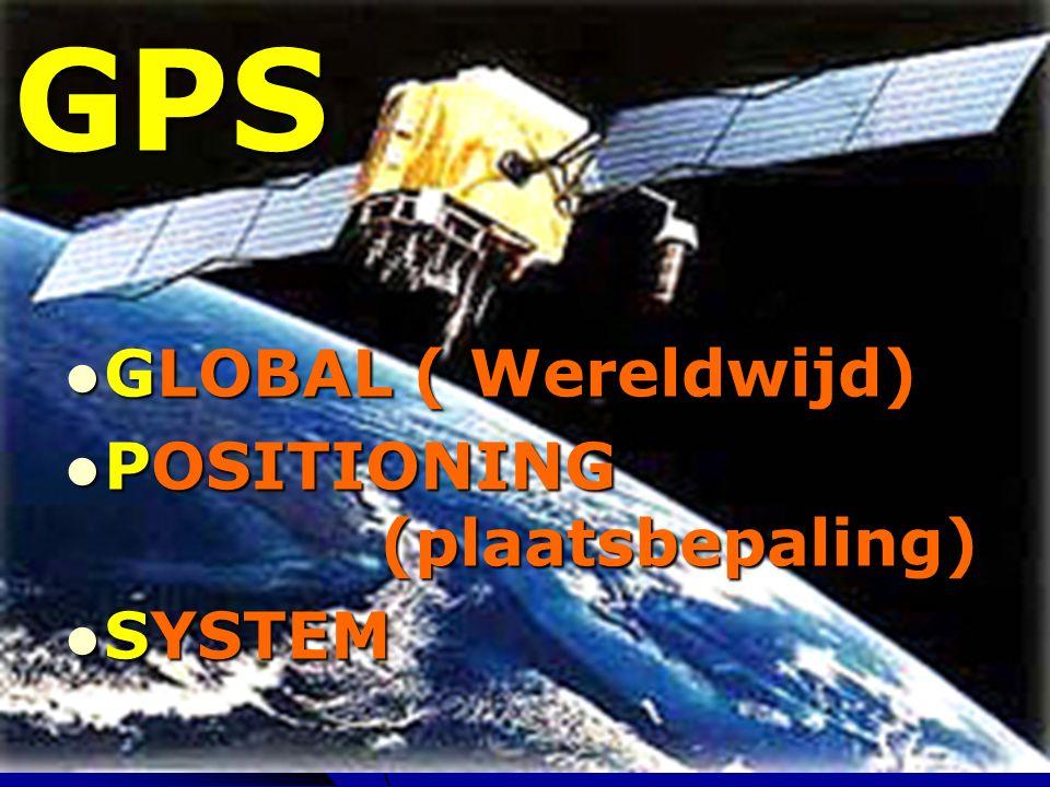 FM 20062 GPS GLOBAL ( Wereldwijd) GLOBAL ( Wereldwijd) POSITIONING (plaatsbepaling) POSITIONING (plaatsbepaling) SYSTEM SYSTEM