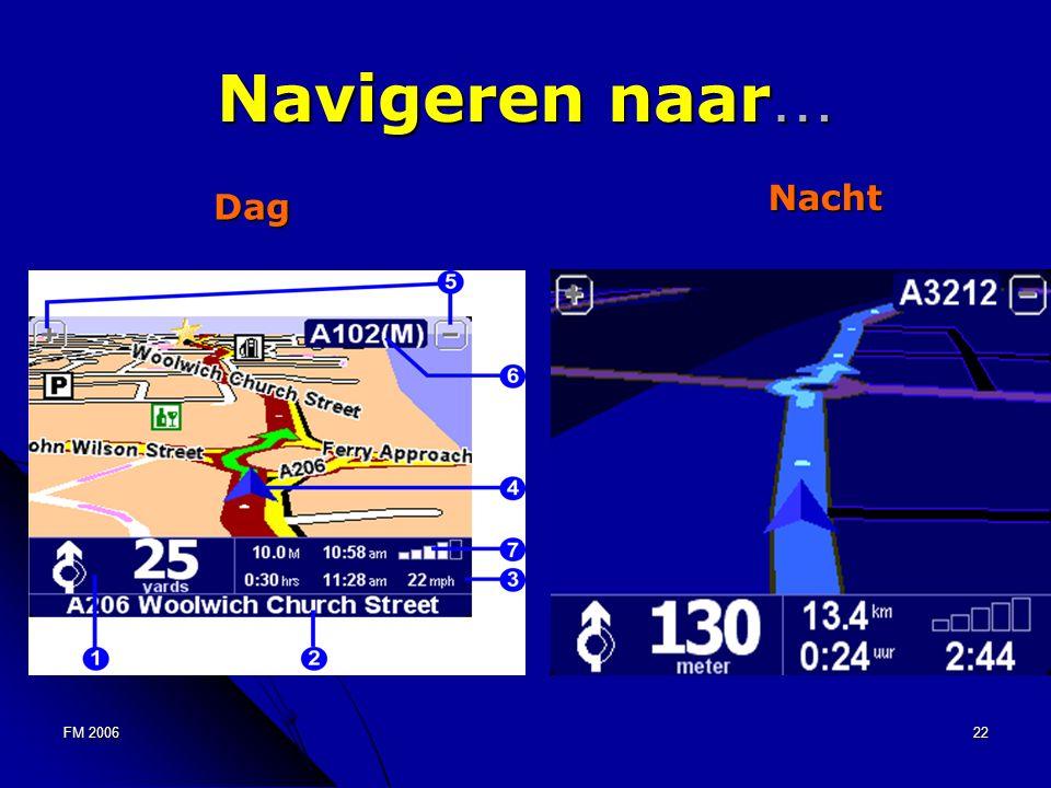 FM 200622 Navigeren naar … Dag Nacht