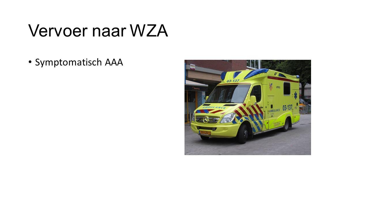 Vervoer naar WZA Symptomatisch AAA