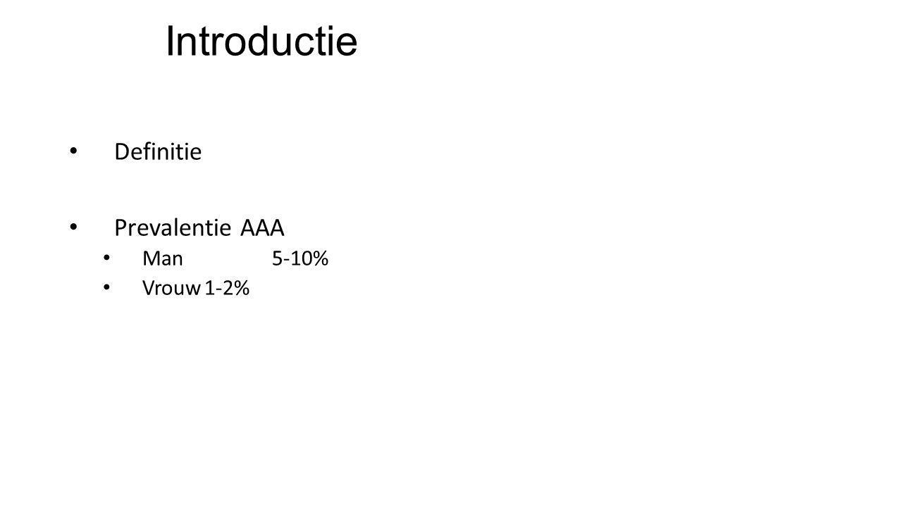 Introductie Definitie Prevalentie AAA Man5-10% Vrouw1-2%