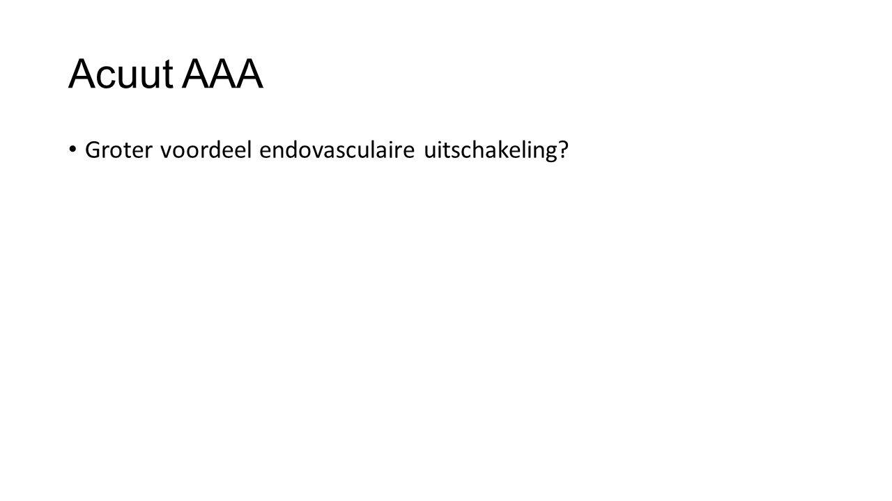 Acuut AAA Groter voordeel endovasculaire uitschakeling?