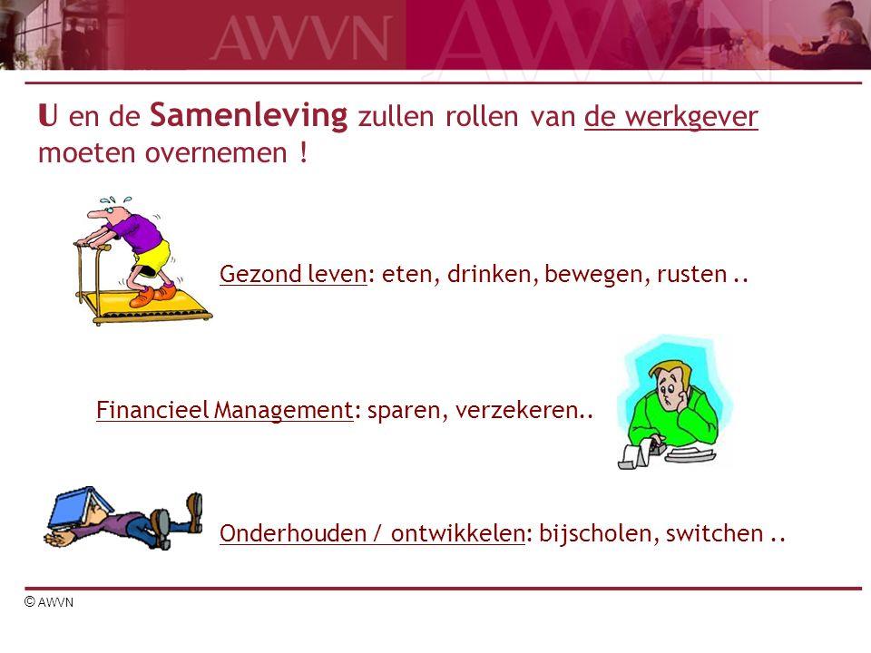 © AWVN U en de Samenleving zullen rollen van de werkgever moeten overnemen .