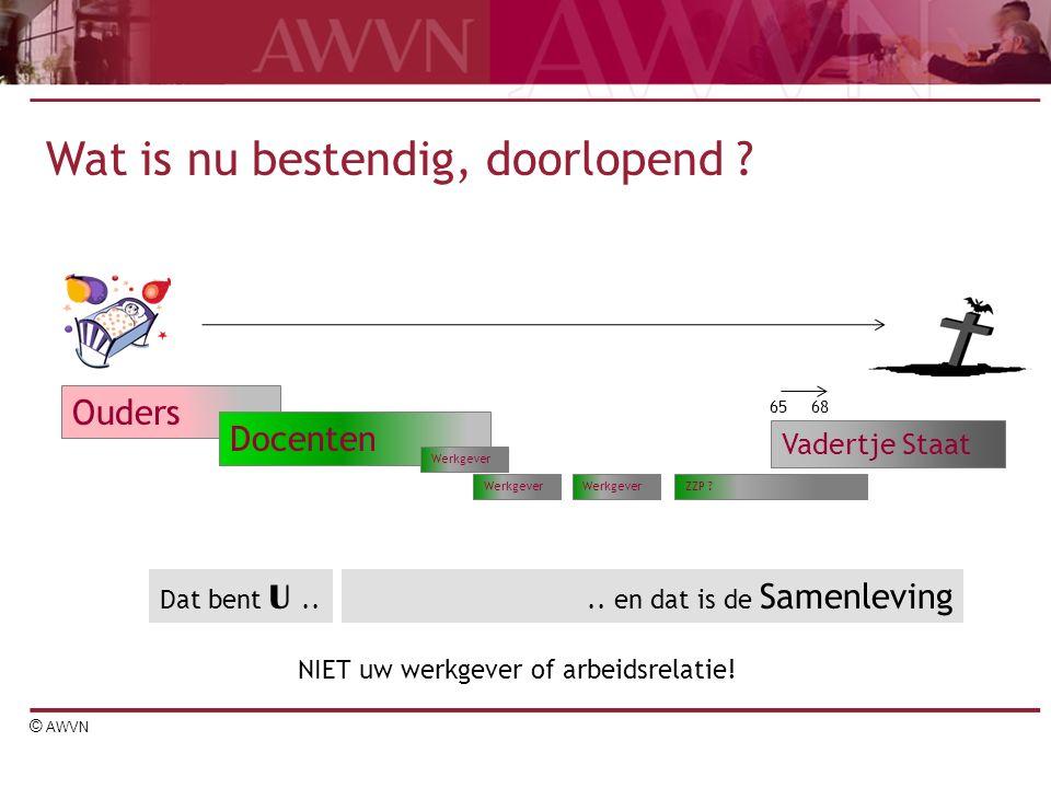 © AWVN Ouders Docenten Vadertje Staat Wat is nu bestendig, doorlopend .