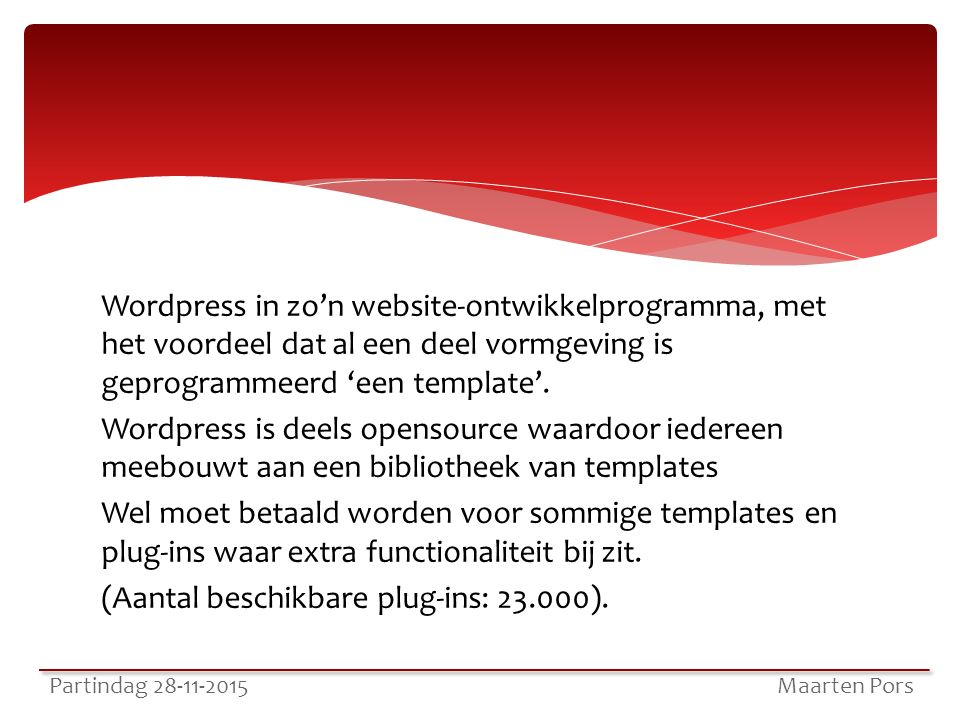 Wordpress in zo'n website-ontwikkelprogramma, met het voordeel dat al een deel vormgeving is geprogrammeerd 'een template'.