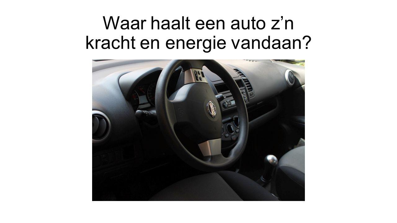Waar haalt een auto z'n kracht en energie vandaan?