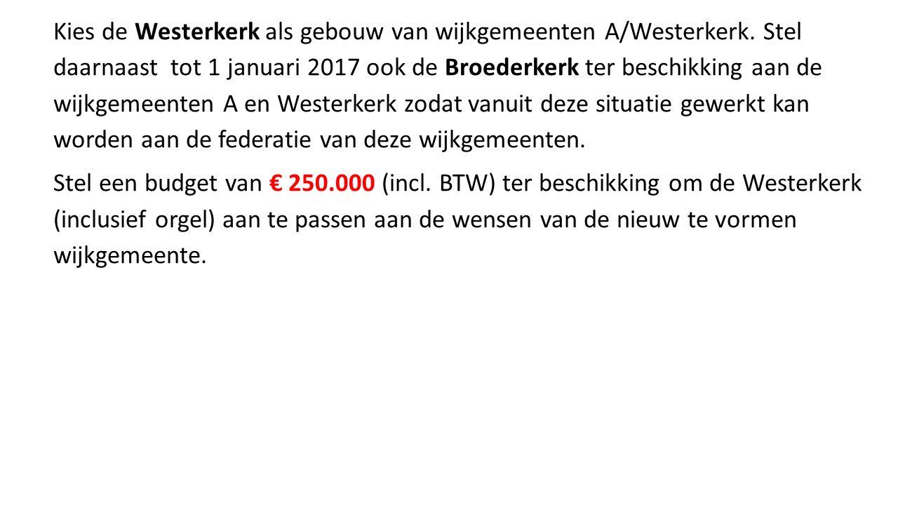 Kies de Westerkerk als gebouw van wijkgemeenten A/Westerkerk.