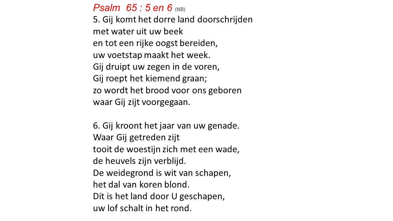 Psalm 65 : 5 en 6 (NB) 5.