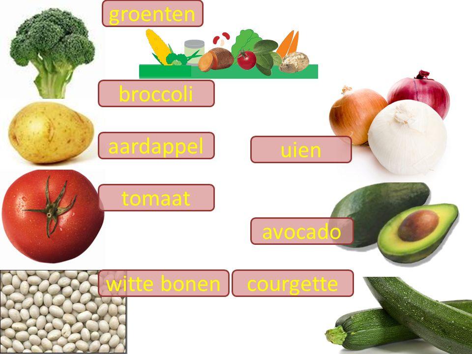 avocado groenten tomaat broccoli aardappel courgette uien witte bonen