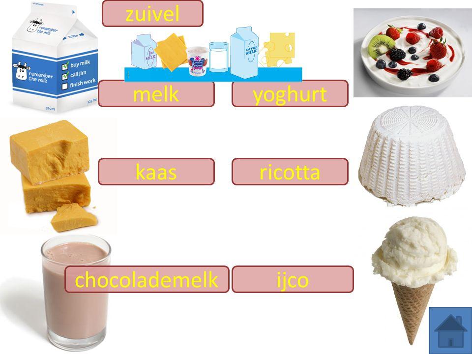zuivel ricotta melk kaas ijco yoghurt chocolademelk