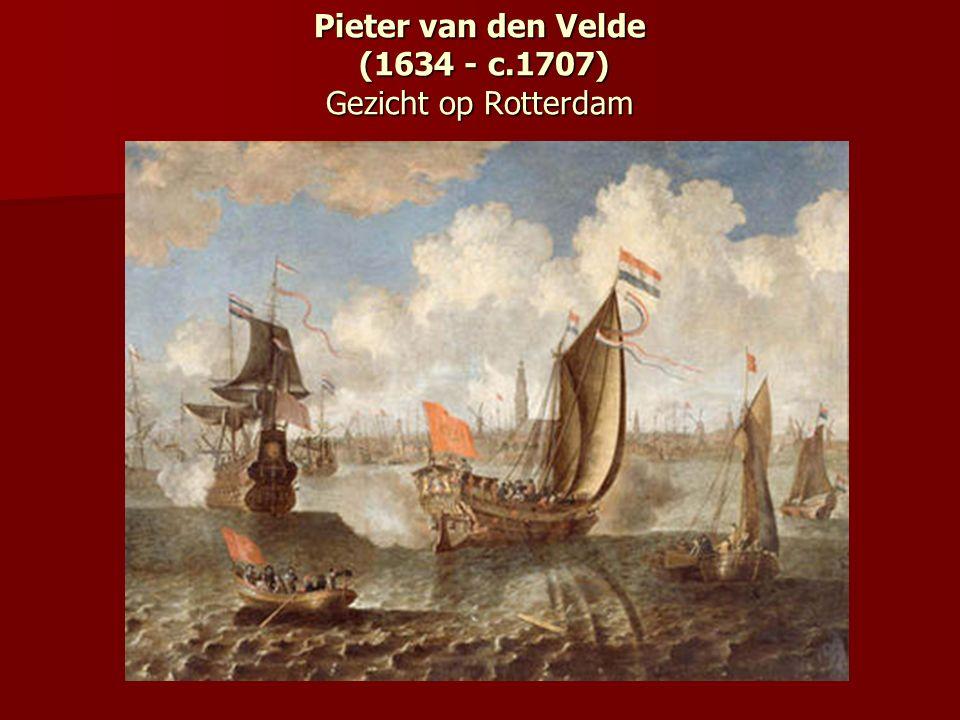 Pieter van den Velde (1634 - c.1707) Gezicht op Rotterdam