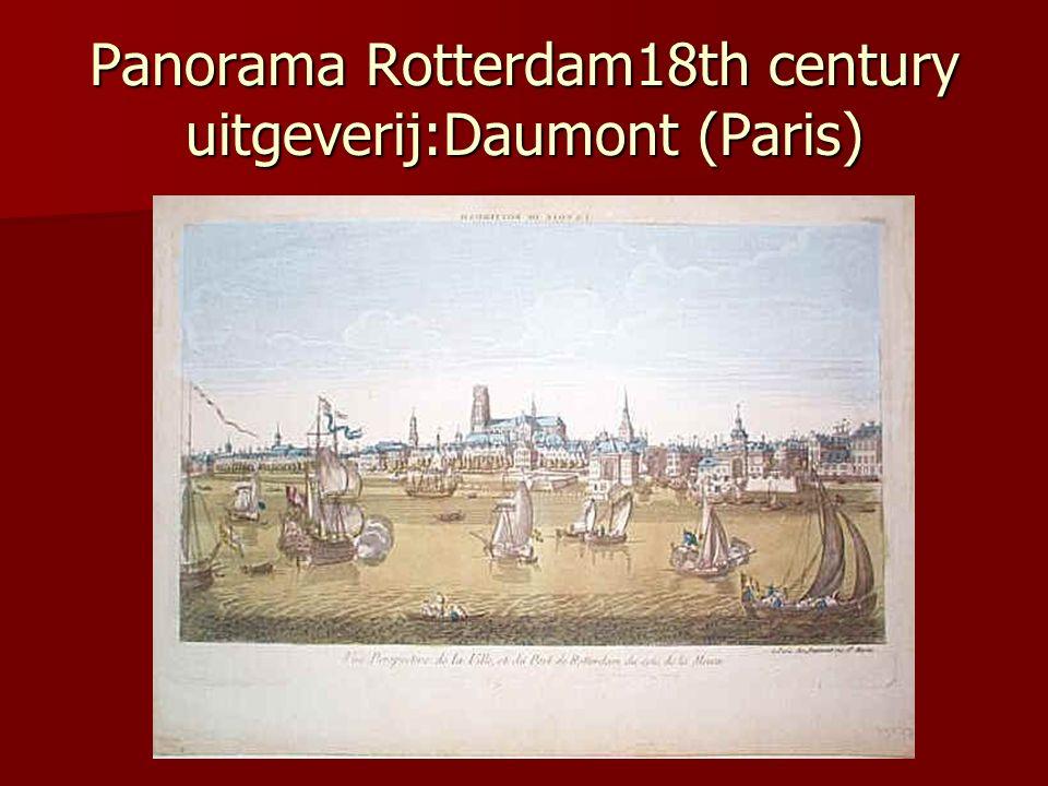 Panorama Rotterdam18th century uitgeverij:Daumont (Paris)