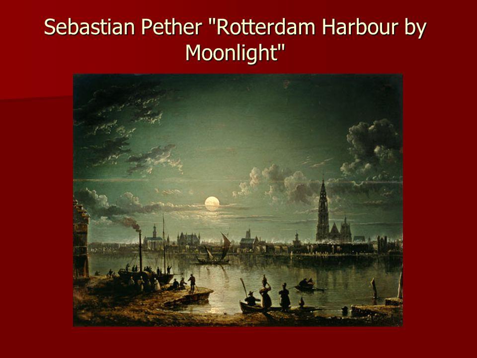 Sebastian Pether Rotterdam Harbour by Moonlight