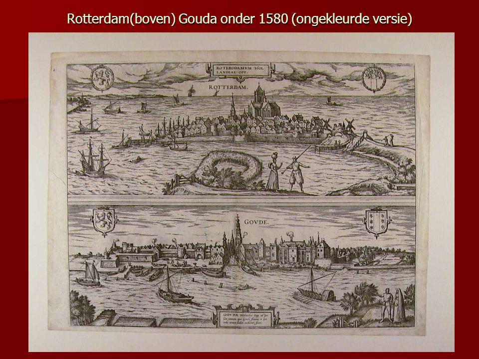 Beschrijving: De stad Rotterdam vanuit Crooswijk gezien.