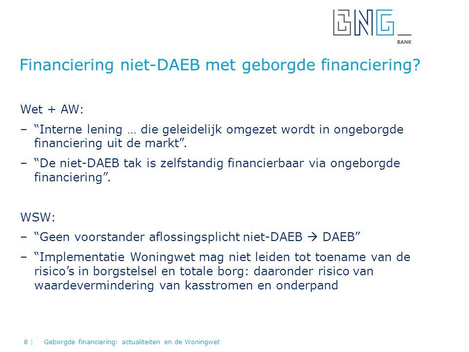 Financiering niet-DAEB met geborgde financiering.