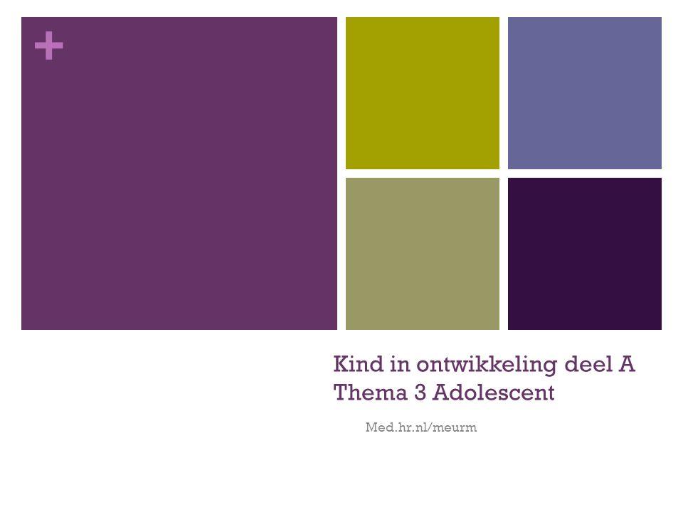 + Kind in ontwikkeling deel A Thema 3 Adolescent Med.hr.nl/meurm