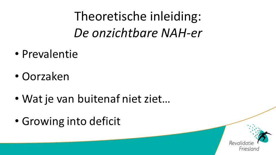 Theoretische inleiding: De onzichtbare NAH-er Prevalentie Oorzaken Wat je van buitenaf niet ziet… Growing into deficit