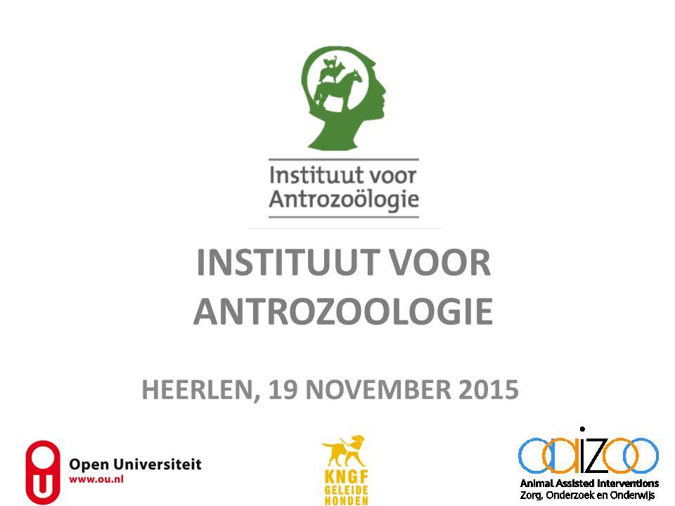 INSTITUUT VOOR ANTROZOOLOGIE HEERLEN, 19 NOVEMBER 2015