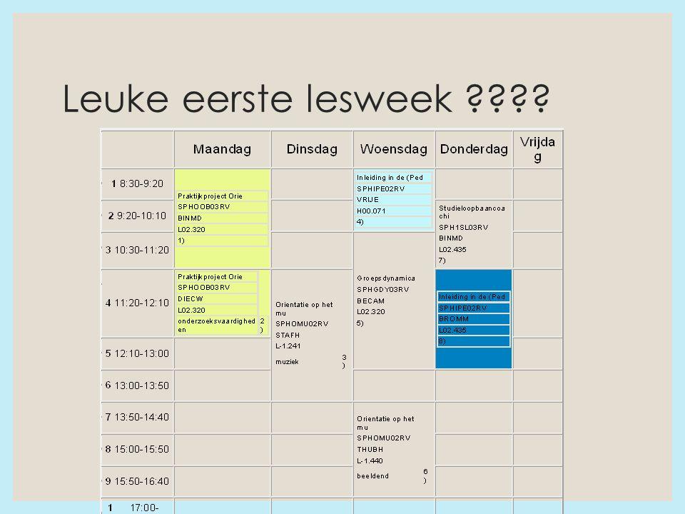 Leuke eerste lesweek