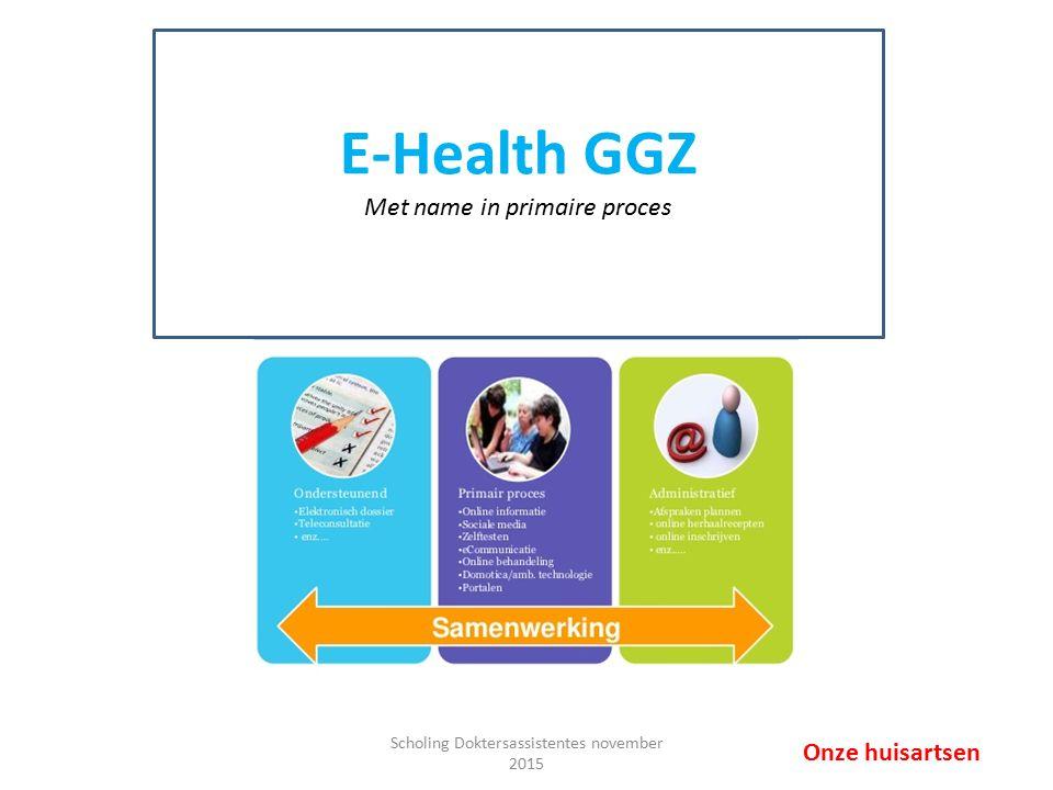 E-health GGZ: Ksyos & Therapieland Onderzoek/diagnostiek – Screeningslijsten: o.a.