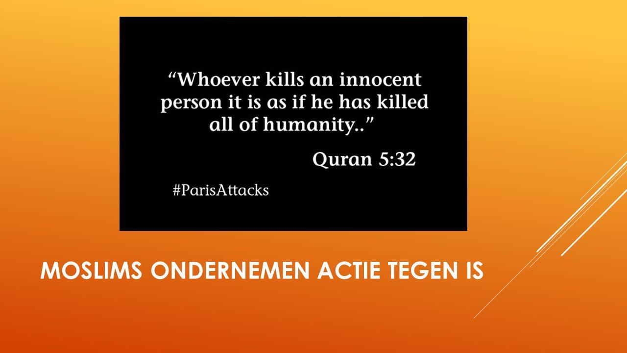 MOSLIMS ONDERNEMEN ACTIE TEGEN IS