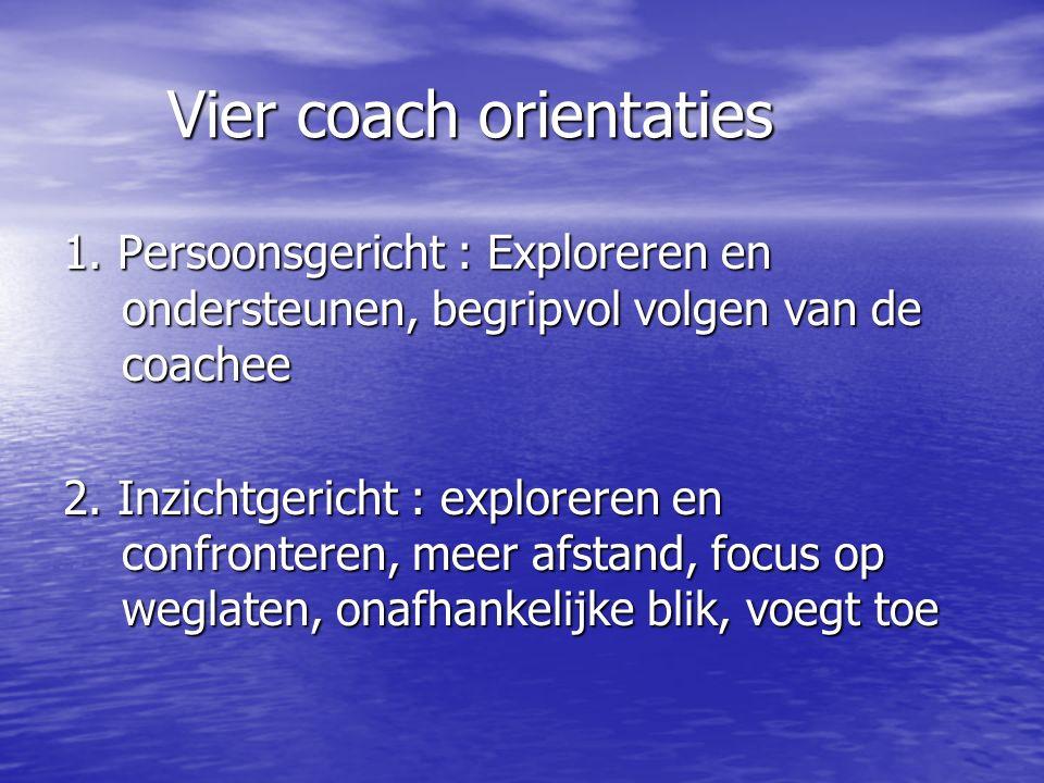 Vier coach orientaties 1.