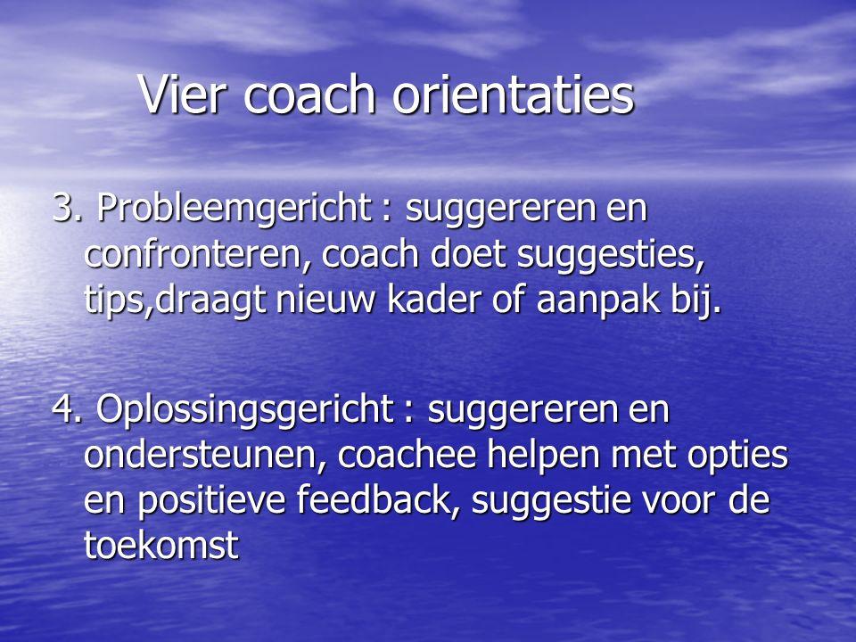 Vier coach orientaties 3.