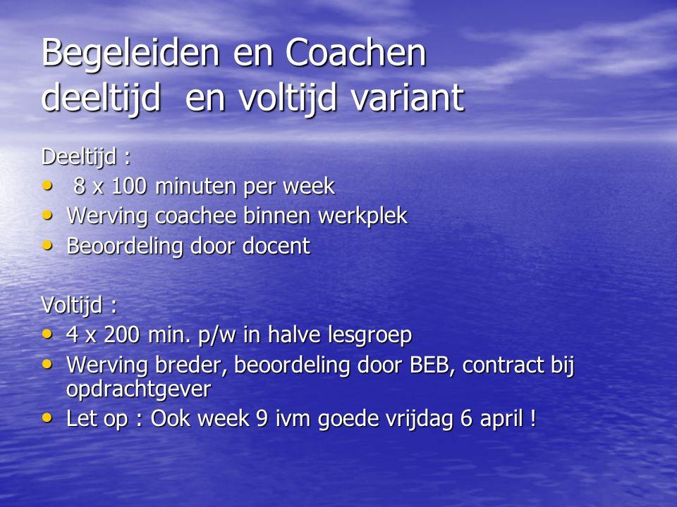 Begeleiden en Coachen Wat is coachen .met welk doel .